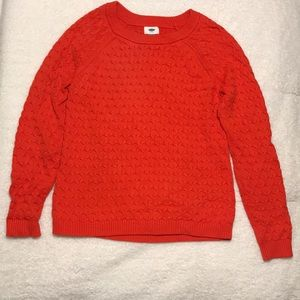 Old Navy | Red Cable Knit Sweater